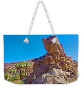 Rock Formation Higher Than Fan Palms Along Lower Palm Canyon Trail In Indian Canyons Near Palm Sprin Weekender Tote Bag