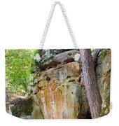 Rock Formation Wildcat Den State Park Weekender Tote Bag