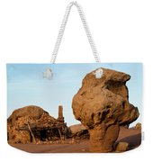 Rock Formations And Abandoned Building Weekender Tote Bag