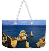Rock Formations In The Sea, Algarve Weekender Tote Bag