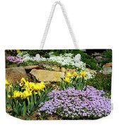 Rock Garden Flowers Weekender Tote Bag