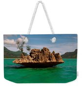 Rock In Indian Ocean With Mountain Weekender Tote Bag