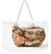 Rock Isolated On White Weekender Tote Bag