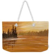 Rock Lake Morning 1 Weekender Tote Bag