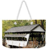Rock Mill Covered Bridge Ohio Weekender Tote Bag