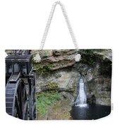 Rock Mill Water Fall In Ohio Weekender Tote Bag