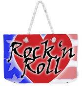 Rock N Roll Stars N Stripes Weekender Tote Bag