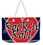 Rock N Roll Union Jack Weekender Tote Bag