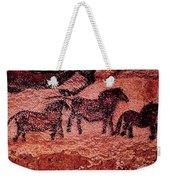 Rock Painting Of Tarpans Ponies, C.17000 Bc Cave Painting Weekender Tote Bag