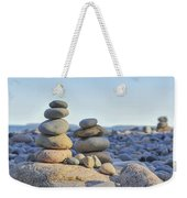 Rock Piles Zen Stones Little Hunters Beach Maine Weekender Tote Bag