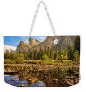 Rock Reflections On The Merced Weekender Tote Bag