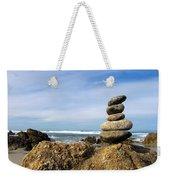Rock Sculpture At The Beach Weekender Tote Bag