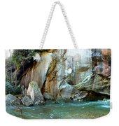 Rock Wall And River Weekender Tote Bag