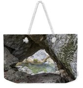 Rock Window Weekender Tote Bag by David Morefield