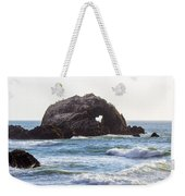Heart Rock Near San Francisco Ca Cliff House Weekender Tote Bag