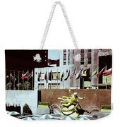 Prometheus Rockefeller Plaza 1950 Weekender Tote Bag