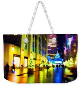 Rockefeller Center Christmas Trees - Holiday And Christmas Card Weekender Tote Bag