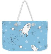 Rocket Science Light Blue Weekender Tote Bag