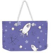 Rocket Science Purple Weekender Tote Bag