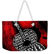 Rockin Guitar In Red Typography Weekender Tote Bag