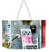 Rocking Chair With Pink Pillow Weekender Tote Bag by Susan Savad
