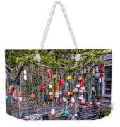Rockport Fishing Net And Buoys Weekender Tote Bag