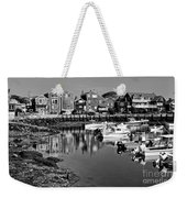 Rockport Harbor - Bw Weekender Tote Bag