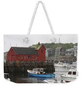Rockport Inner Harbor With Lobster Fleet And Motif No.1 Weekender Tote Bag