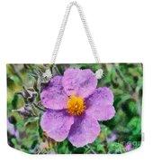 Rockrose Wild Flower Weekender Tote Bag