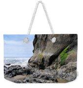 Rocks At Arcadia Beach Weekender Tote Bag