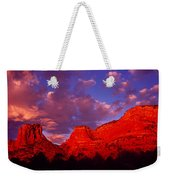 Rocks At Sunset Sedona Az Usa Weekender Tote Bag
