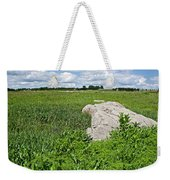 Rocks In A Tall Grass Prairie In Pipestone National Monument-minnesota Weekender Tote Bag
