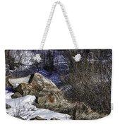 Rocks In Snow Weekender Tote Bag