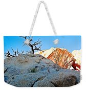 Rocks In Sun And Shade Along Barker Dam Trail In Joshua Tree Np-ca- Weekender Tote Bag