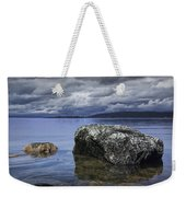 Rocks In The Water On A Lake In Acadia National Park Weekender Tote Bag