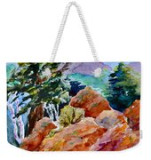 Rocks Near Red Feather Weekender Tote Bag
