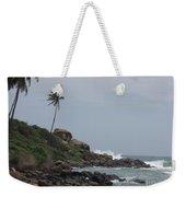 Rocks Of Kovalam Beach Kerala Weekender Tote Bag