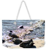 Rocks On The Bay Weekender Tote Bag