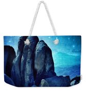 Rocky Cliff In Starlight Weekender Tote Bag