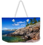 Rocky Coast And Clear Water Of Lake Superior Weekender Tote Bag