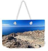 rocky coast in San Pietro island Weekender Tote Bag