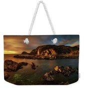 Rocky Coastline At Sunset, Point Weekender Tote Bag