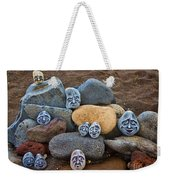 Rocky Faces In The Sand Weekender Tote Bag