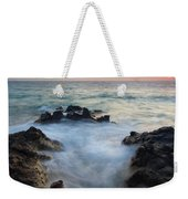 Rocky Inlet Sunset Weekender Tote Bag by Mike  Dawson