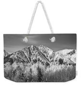 Rocky Mountain Autumn High In Black And White Weekender Tote Bag
