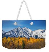 Rocky Mountain Autumn High Weekender Tote Bag