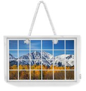 Rocky Mountain Autumn High White Picture Window Weekender Tote Bag