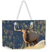 Rocky Mountain Bull Elk Bugling Weekender Tote Bag