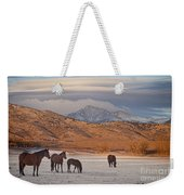 Rocky Mountain Country Morning Weekender Tote Bag
