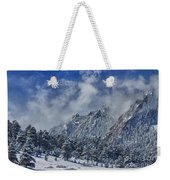 Rocky Mountain Dusting Of Snow Boulder Colorado Weekender Tote Bag